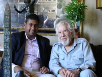 Annesley with Brian Cobby (Speaking Clock 1985 to 2007)