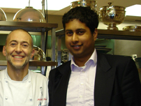 Annesley with chef Michel Roux Junior