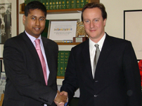 Annesley with David Cameron shortly after being adopted as the Conservative Parliamentary Candidate for Hazel Grove in 2007