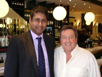 Annesley with Alan Love of Ruby Tates restaurant in Brighton as featured on \'Ramsay\'s Kitchen Nightmares\'