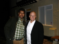 Annesley with molecular gastronomist and TV Chef Heston Blumenthal in Berkshire
