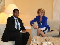 Annesley in Spain meeting President Esperanza Aguirre, President of Madrid