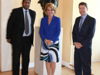 Annesley in Spain with President Esperanza Aguirre and Simon Bowthorpe, Vice Chairman of Conservatives Abroad in Madrid.