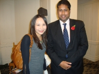 Annesley with TVchef Ching He-Huang at the House of Commons Tiffin Restaurant Awards 2010