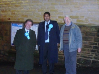 Annesley campaigning during the Oldham East and Saddleworth by-election in January 2011 with Oliver Letwin (left).