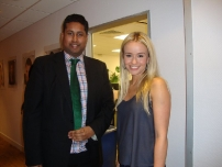 Annesley with Emmerdale star Sammy Winward