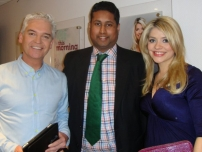 Annesley with ITV\'s This Morning presenters Phillip Schofield and Holly Willoughby