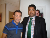 Annesley with ITV This Morning\'s celebrity chef - Gino D\'Acampo