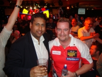 Annesley with player Dean Winstanley at the 2012 BDO World Darts Championship. Dean previously reached the 2011 final.