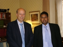 Annesley with The Rt Hon Chris Grayling MP, Secretary of State for Justice.
