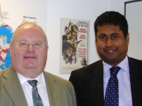Annesley with The Rt Hon Eric Pickles MP when he was Party Chairman and now Secretary of State for Communities & Local Government