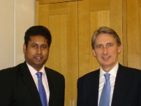 Annesley with The Rt Hon Phillip Hammond MP, Secretary of State for Defence.