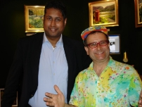 Annesley with former TV-am presenter and Marple resident  -  Timmy Mallet