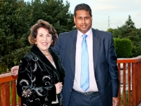 Annesley with Edwina Currie at the Hazel Grove Conservatives Summer Dinner 2012.