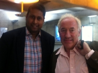 Annesley with award winning actor, Simon Callow.