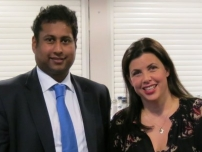 Annesley with presenter of TV\'s \'Location Location Location,\' Kirstie Allsopp.