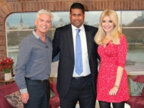 Annesley with ITV\'s This Morning presenters - Phillip Schofield and Holly Willoughby