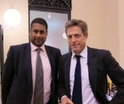 Annesley meeting actor, Hugh Grant.