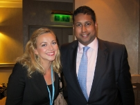 Annesley with singer, Charlotte Church.